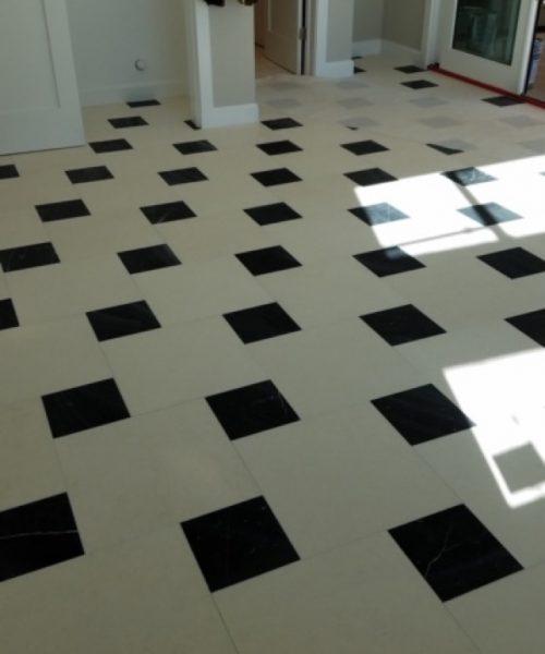 Phoenix tiles back and white square floors